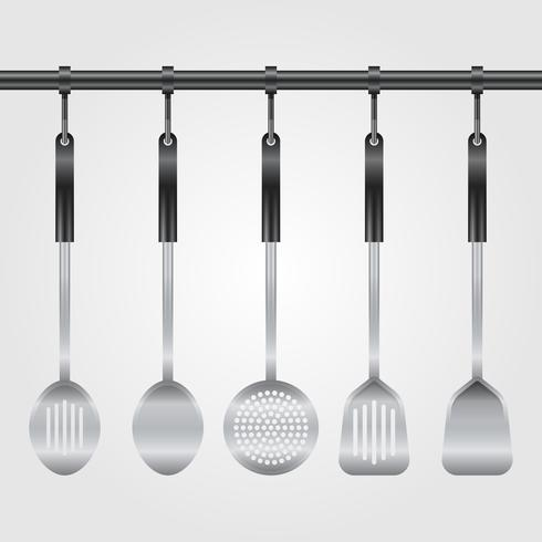 Realistic Kitchen Utensil Collection Illustration vector