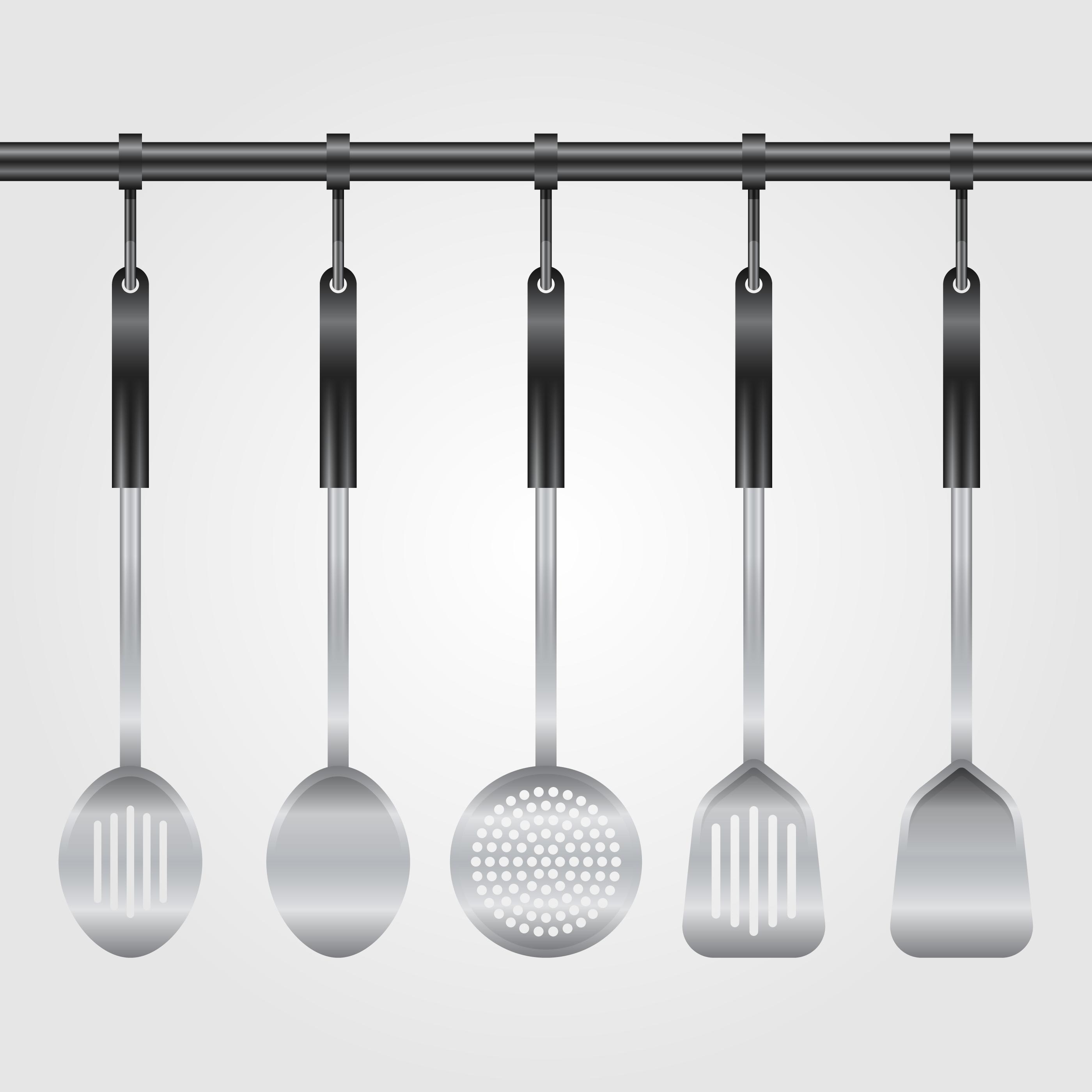 Realistic Kitchen Utensil Collection Illustration