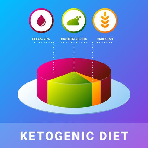keto diet infografisk platt illustration