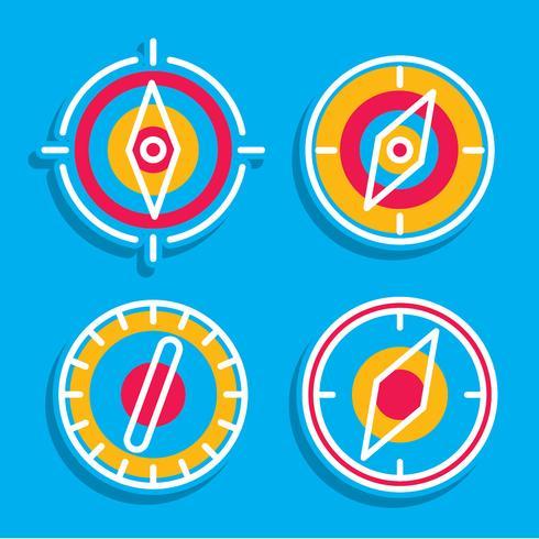 Kompass auf blauem Vektor