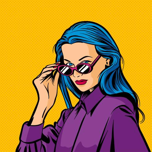 Kvinna Pop Art Vector