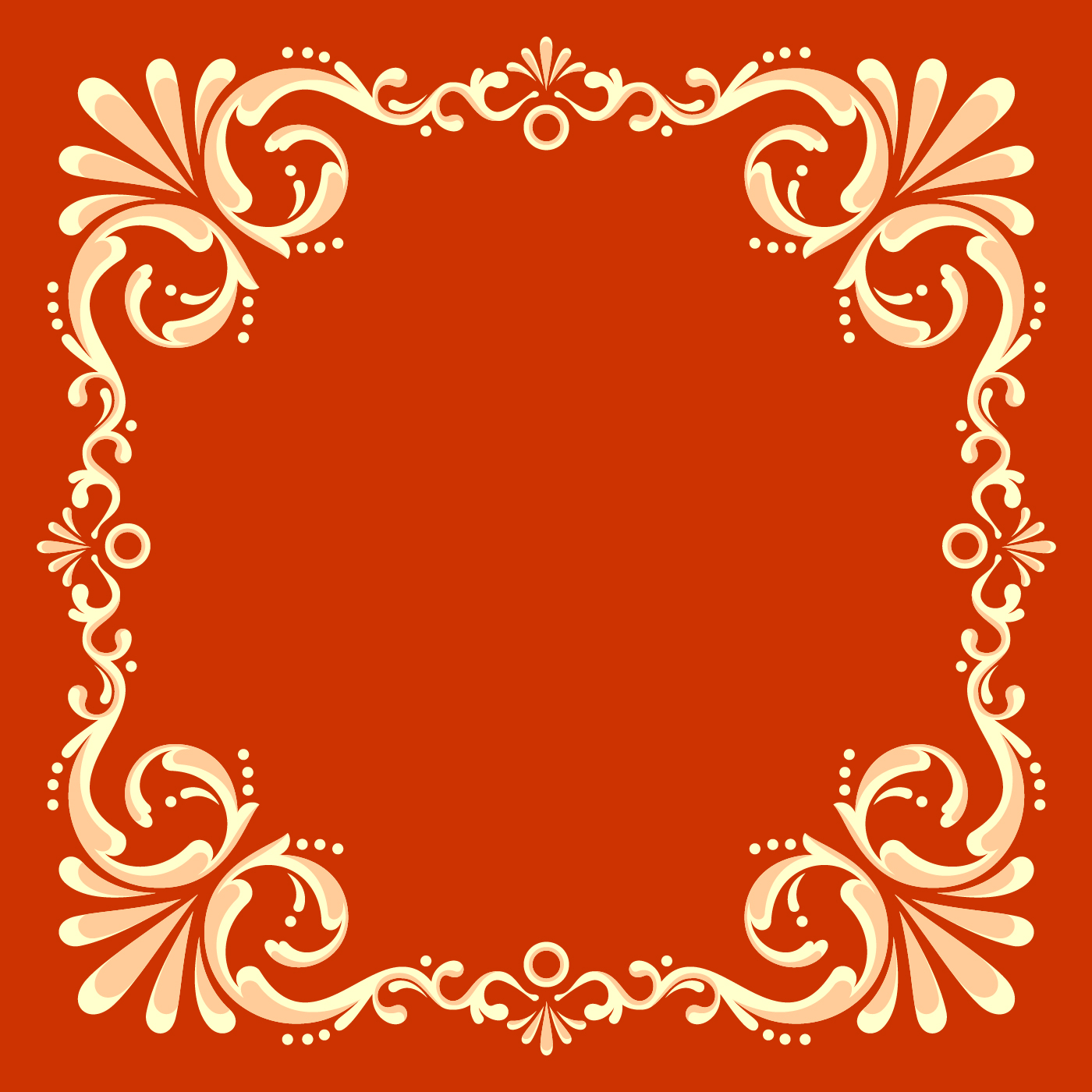 Square Fileteado Frame With Red Background Vector - Download Free ...