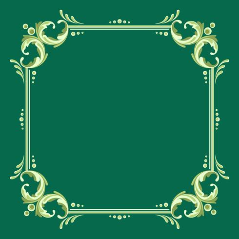 Square Fileteado Frame With Green Background Vector