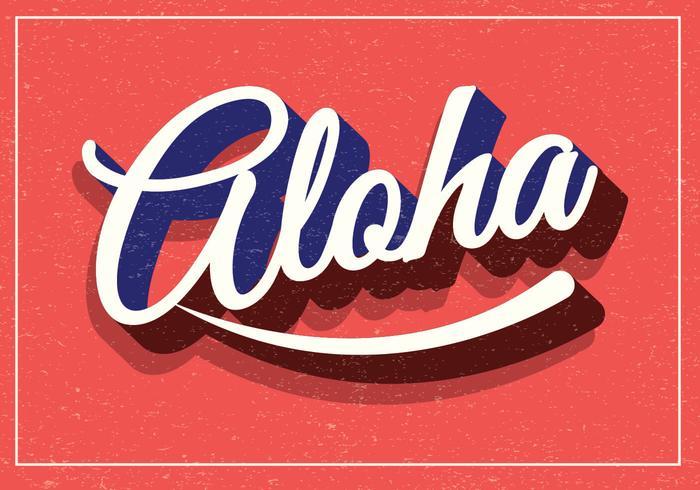 Aloha Retro Typographie
