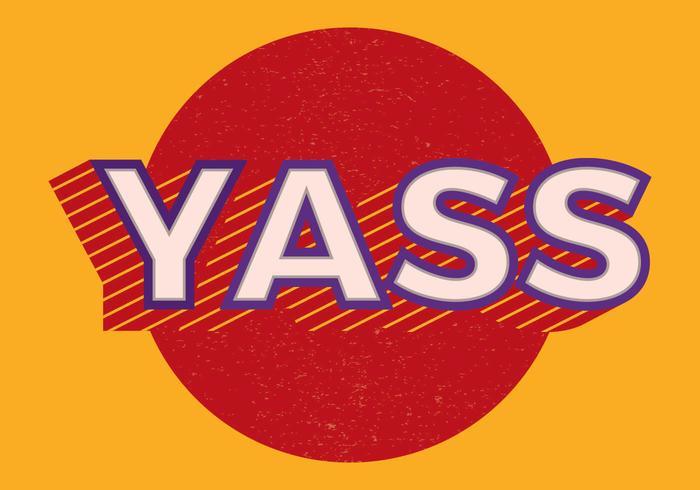 yass retro typografie