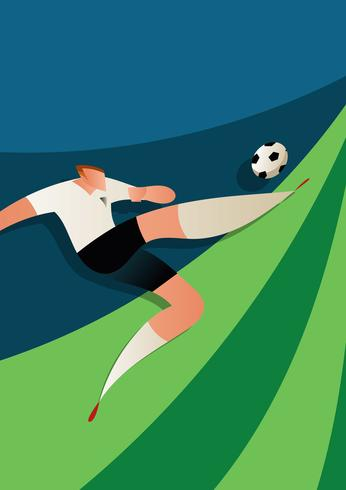 Engeland WK voetballer vectorillustratie