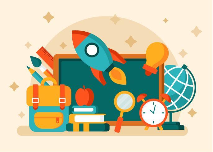 Back to school vector. Download free art stock