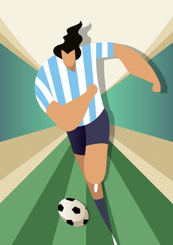 Argentina World Cup Soccer Players Vector