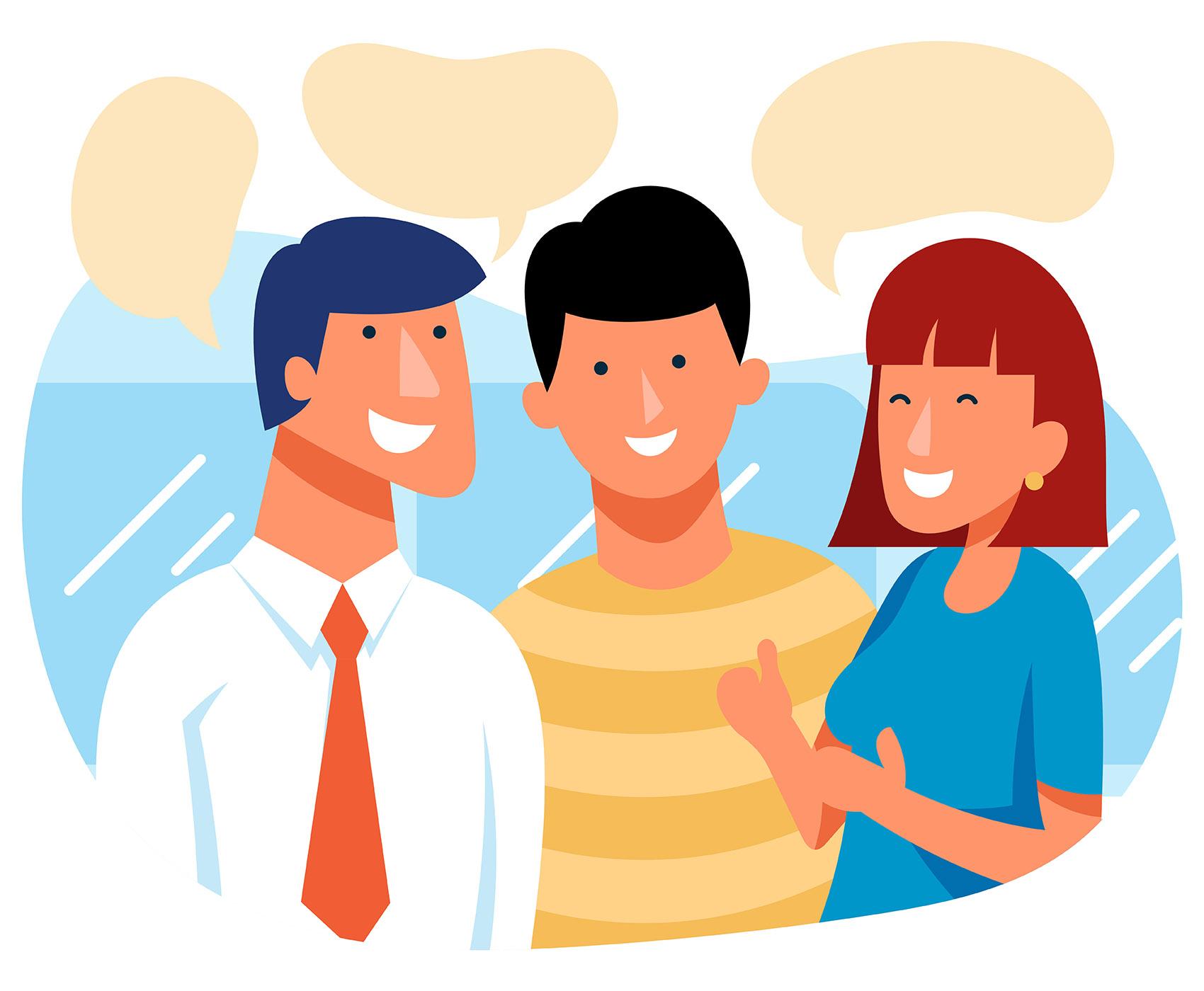 People Talking Illustration - Download Free Vectors ...