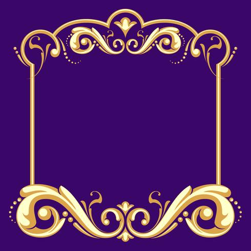 Fileteado Frame With Purple Background Vector