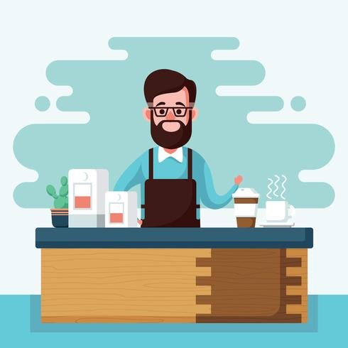 Barista-Illustration vektor