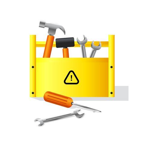 Vector de caja de herramientas realista