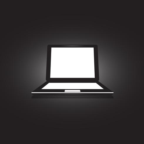 Laptop Icon illustration on unusual background