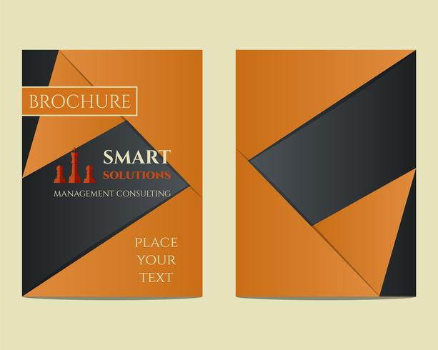 Smart solutions Brochure and flyer a4 size design template with management Consulting keywords concept. Best for management consulting company etc. Unique geometric design. Vector
