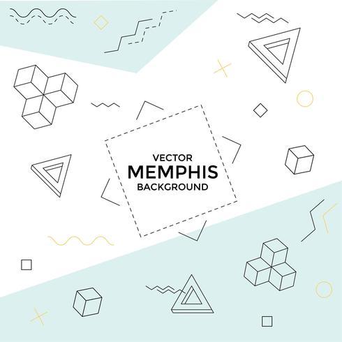 Fondo de Memphis con formas geométricas.