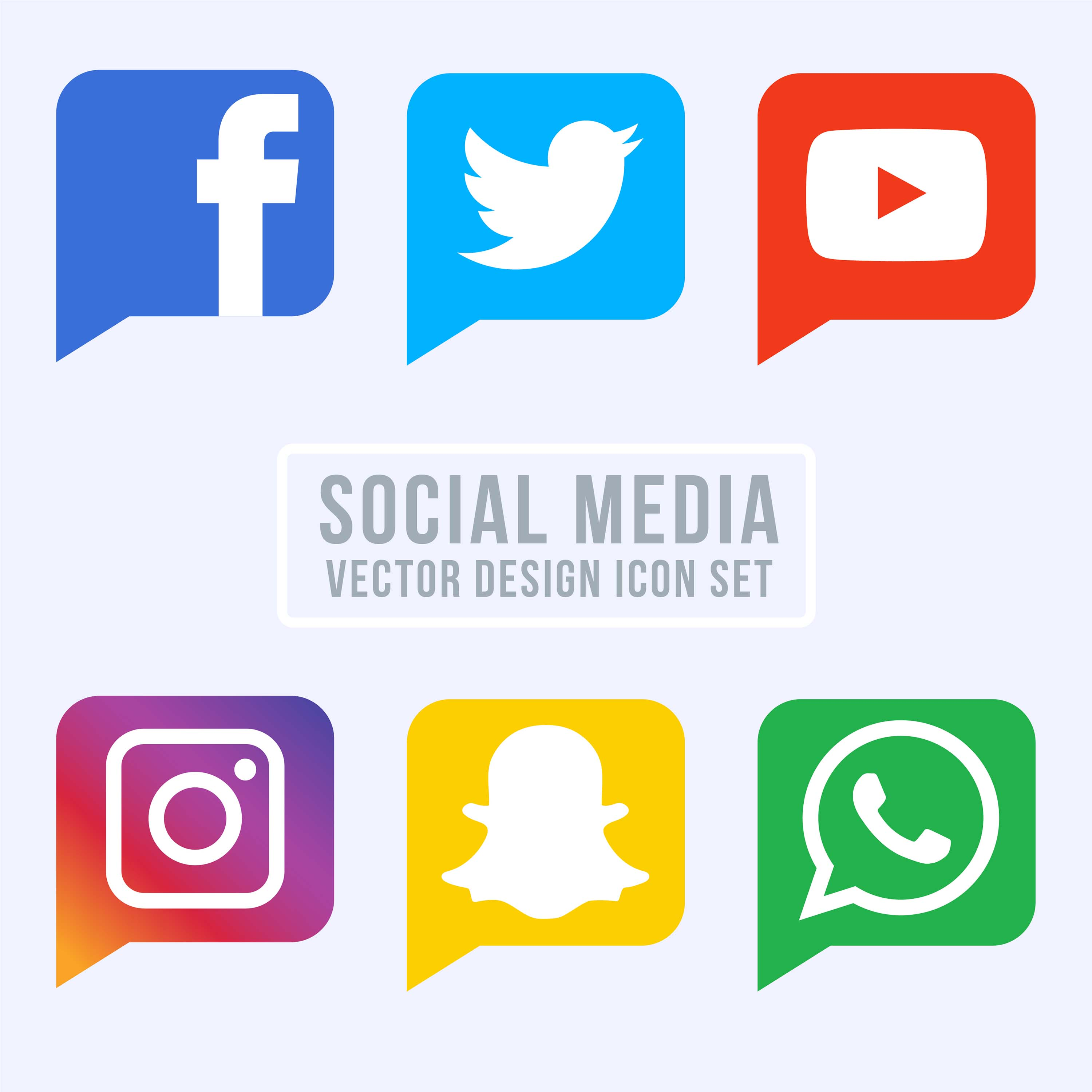 Collection Of Social Media Icons Download Free Vector Art Stock