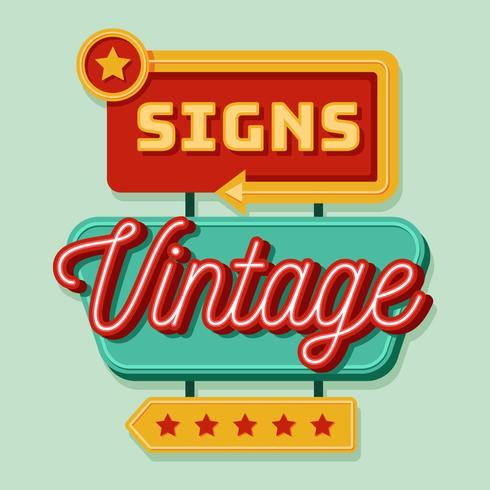 Vintage Sign Vector Illustration
