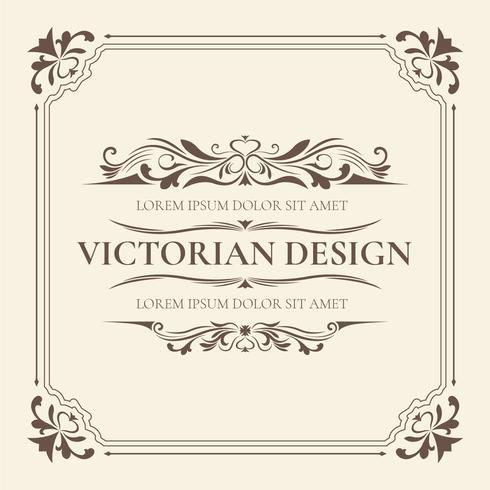 Victoriaanse ontwerpsjabloon
