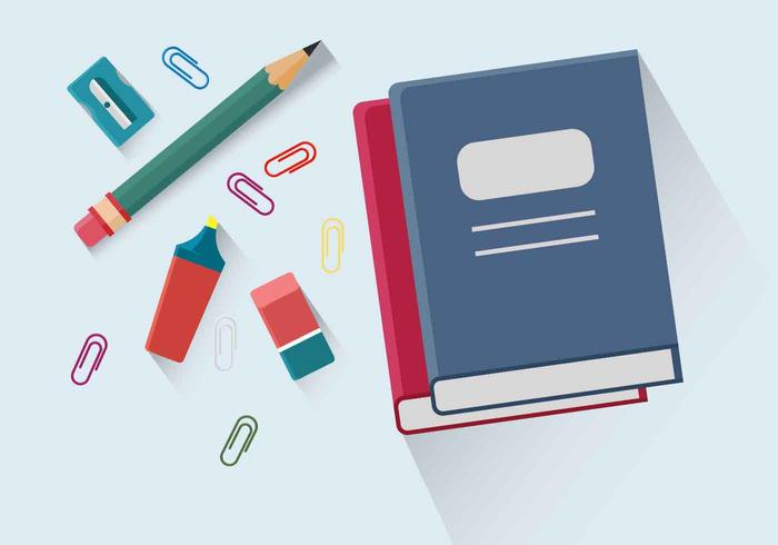 School Supplies Vector Illustration