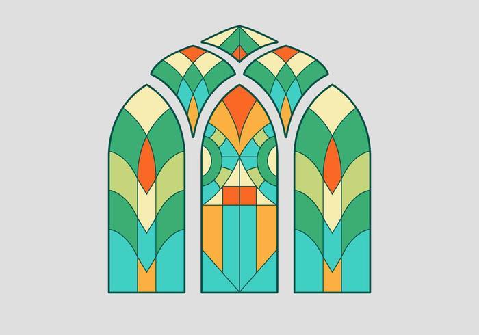 Buntglas-Fenster-Vektor-Illustration