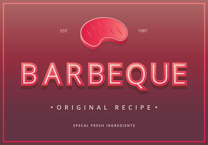 Signes de barbecue Vintage. Panneau de barbecue vintage rétro.