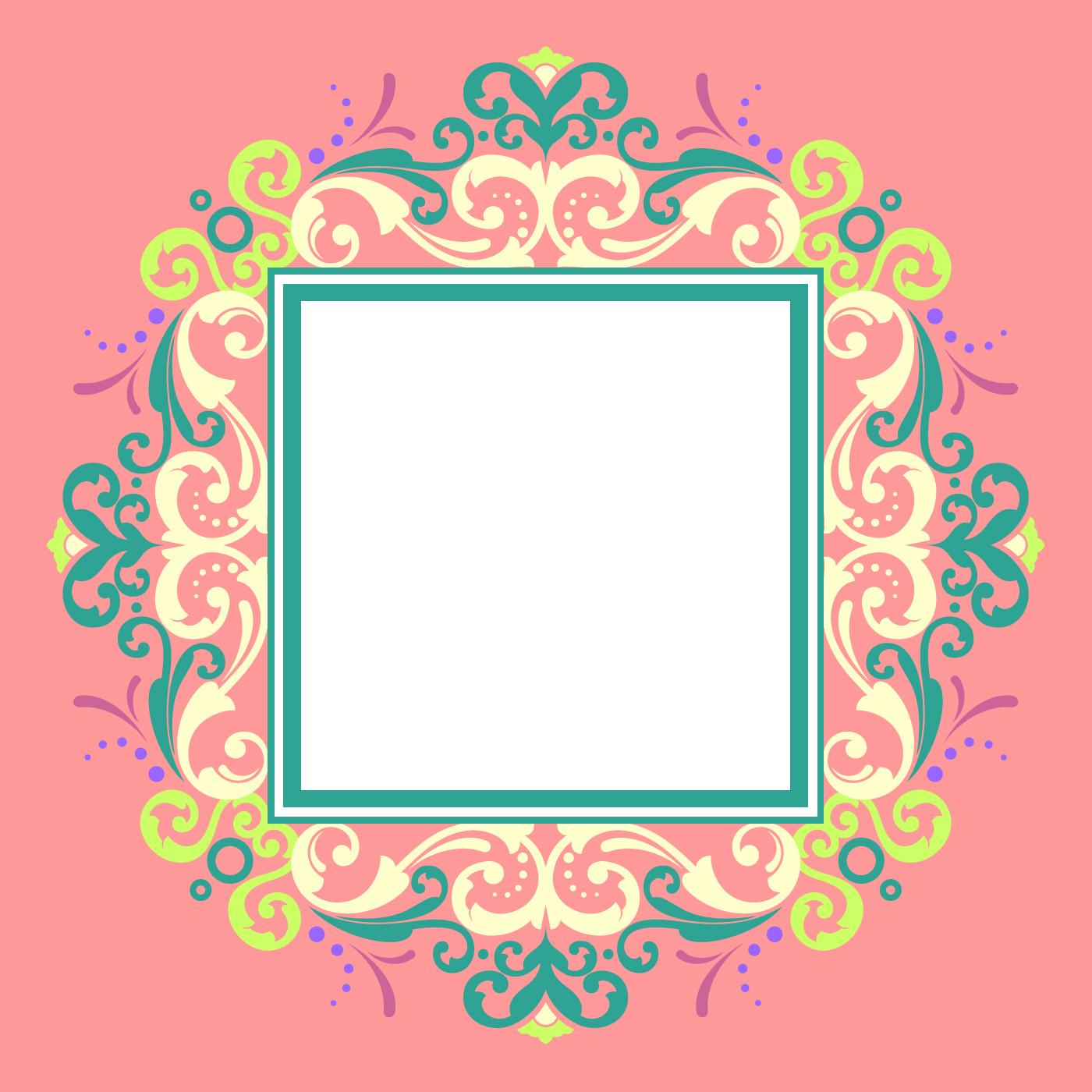 Square Border Free Vector Art 4835 Free Downloads
