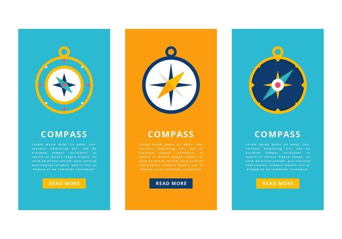 Compass Vector Banner