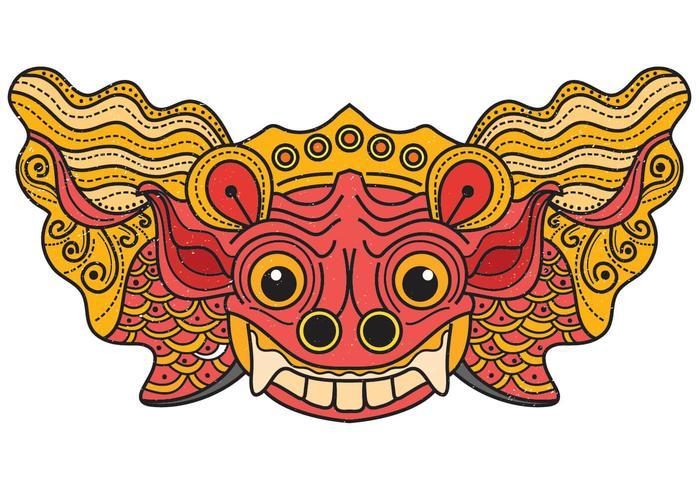 máscara de barong bali