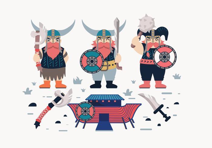 vetor de viking dos desenhos animados