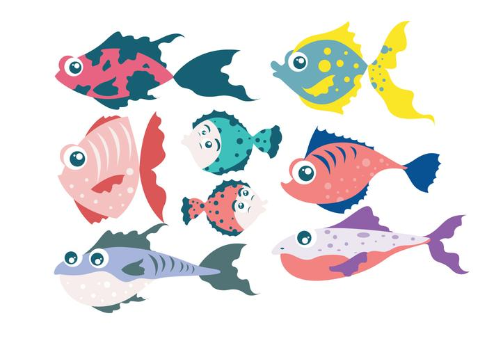Cartoon Fish Vector - Download Free Vector Art, Stock Graphics & Images