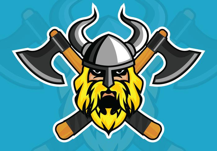 Ilustração vetorial de viking