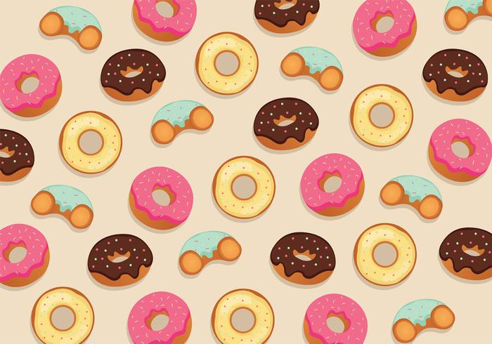 Donuts Pattern Vector Design