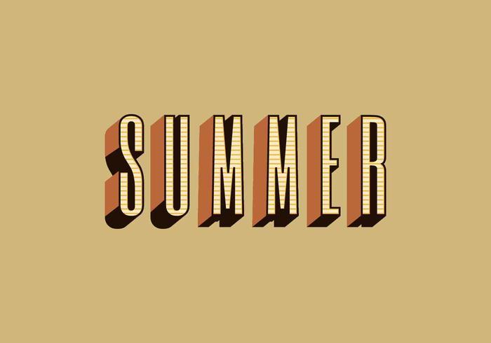 Vector Retro tipografia de verão