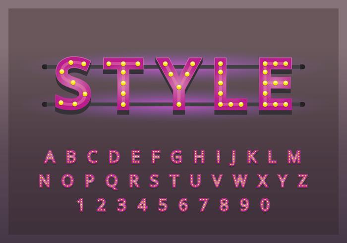 Set de typographie rétro Vintage
