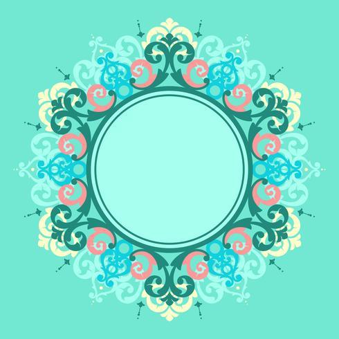 Marco de círculo moderno Vector victoriano
