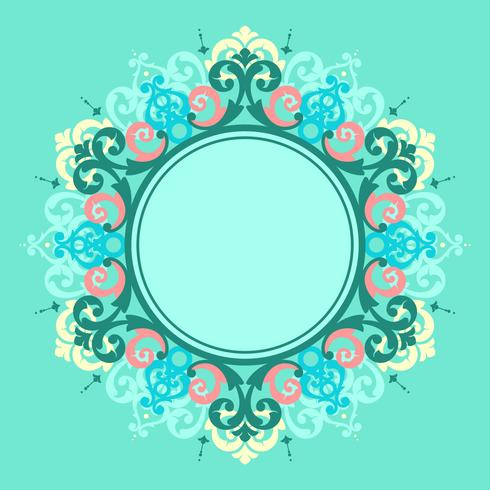 Circle Frame Modern Victorian Vector