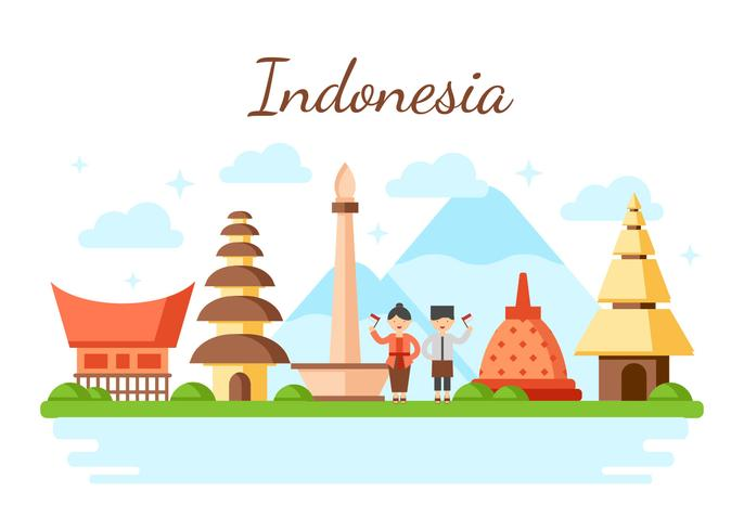 Indonesië vector illustratie