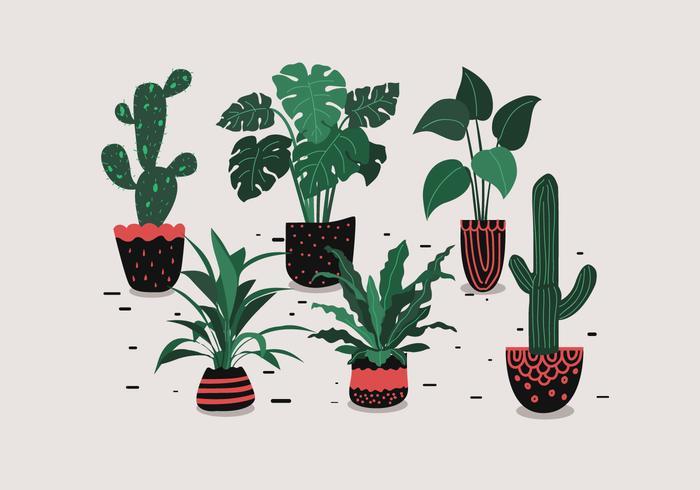 Vector de planta en maceta