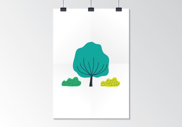 Cartel de papel doblado