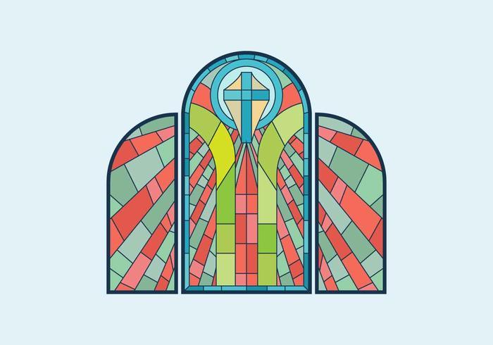Vitrail fenêtre Vector Illustration