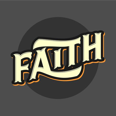 Faith Retro Typography Vector