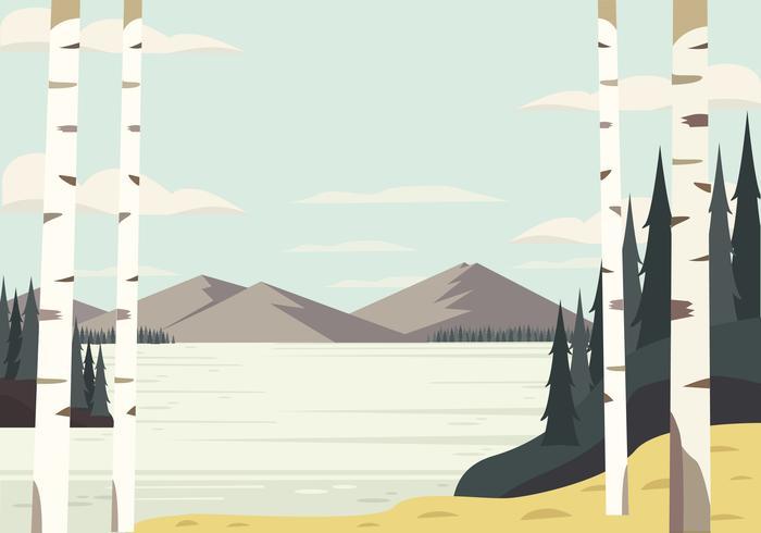 Illustration de paysage de vecteur