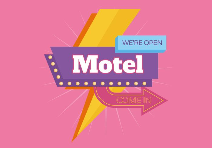 Motel Retro Vintage Sign