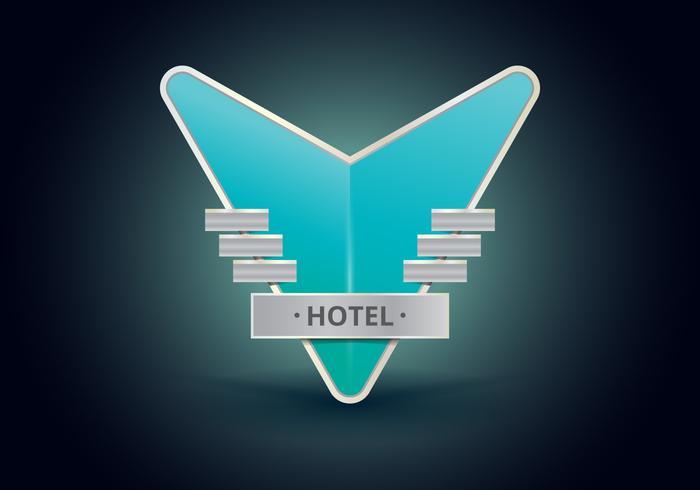 Sinais Do Hotel Do Vintage. Sinal Retro Do Hotel Do Vintage.