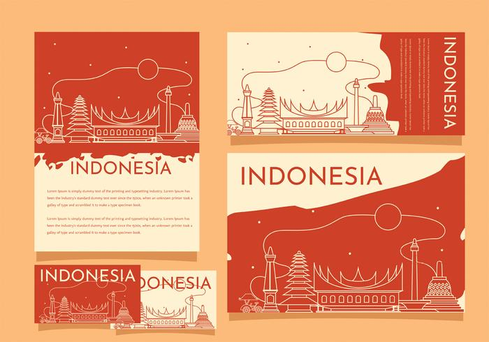 Indonesien Pride Building Template Vector