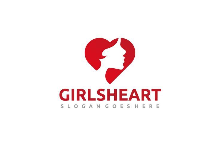 Logotipo del corazón de niña