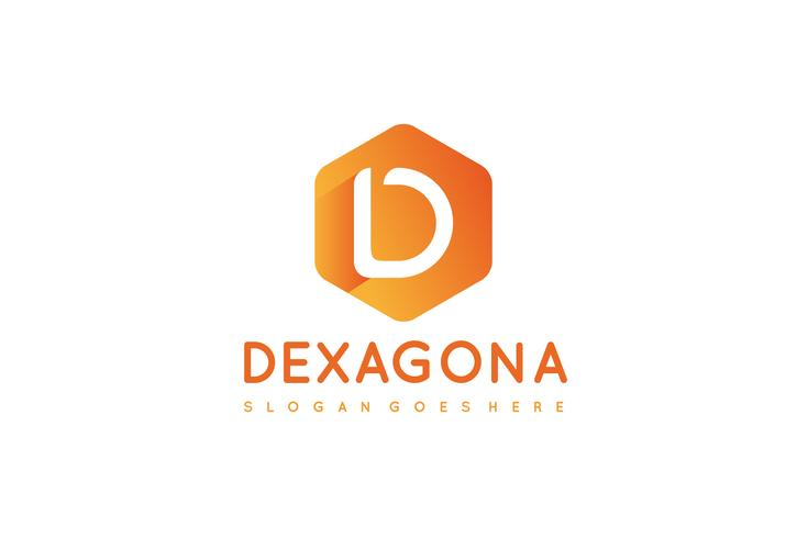 D Letter-Hexagon Logo