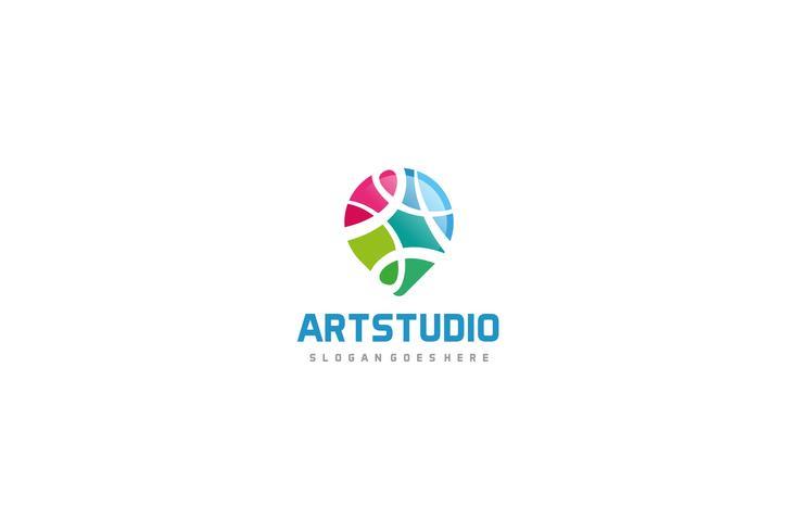 Logotipo de punto colorido