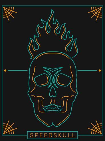 geweldige vlammende schedel vectoren