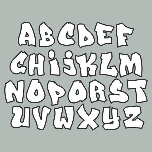 Gata Graffiti Alfabet